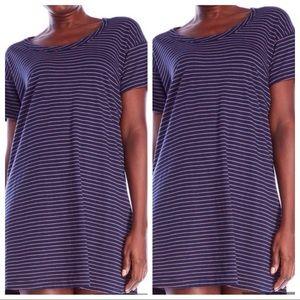 Current/Elliott Striped T-Shirt Dress